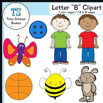 "Letter ""B"" Clipart Set {Tracy Sztanya Studios}."