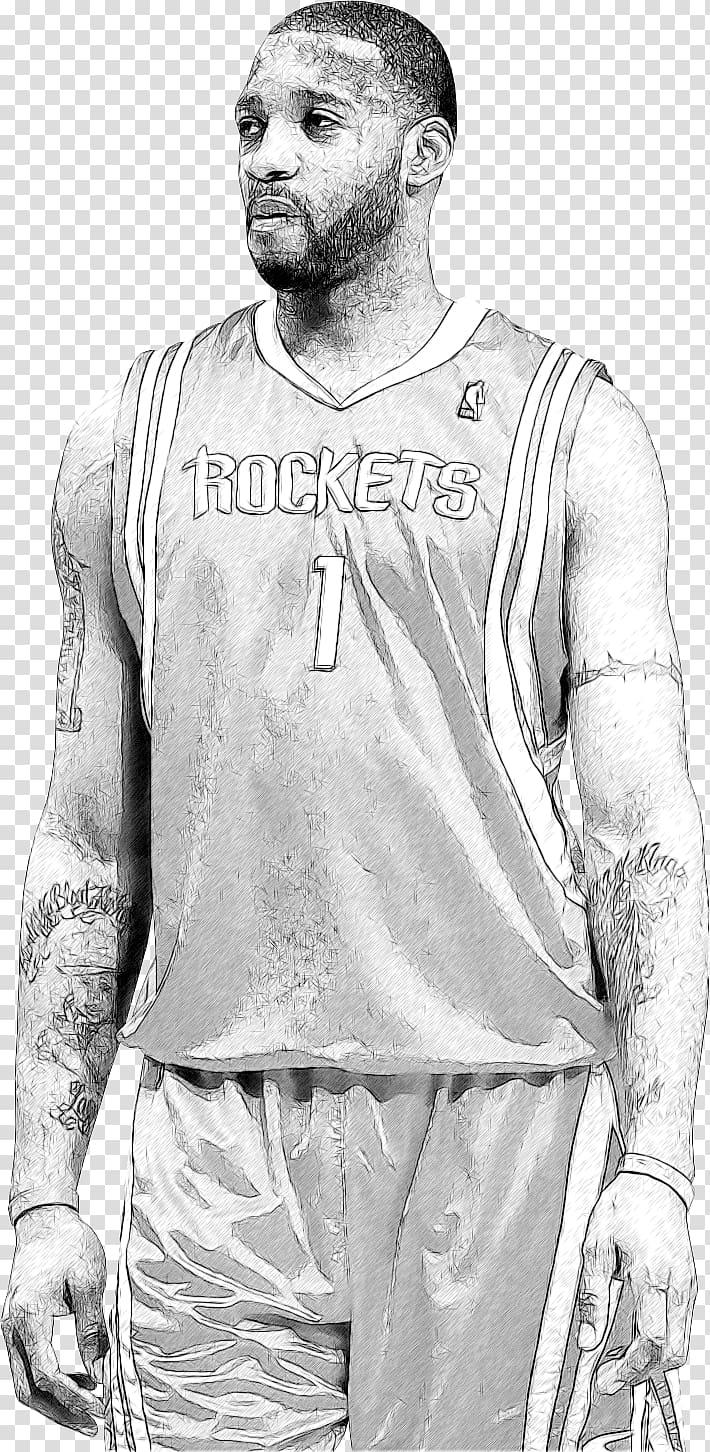 Tracy McGrady NBA Houston Rockets Basketball Drawing, nba.