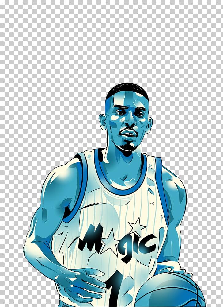 Penny Hardaway Orlando Magic Blue Chips Basketball NBA.