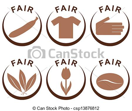 Vector Clip Art of Symbols and products of fair trade csp13876812.