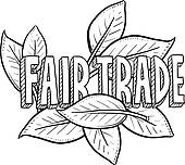Clipart of Fair trade food sketch k12877202.