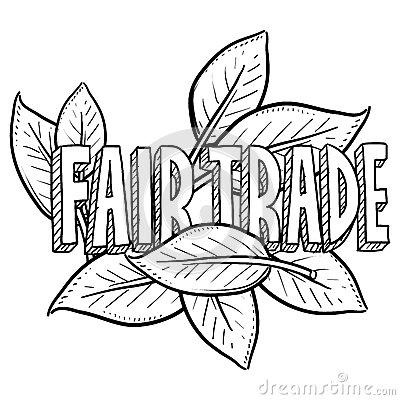 Fair Trade Product Label Sticker Stock Illustrations.