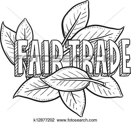 Clipart of Fair trade food sketch k12877202.