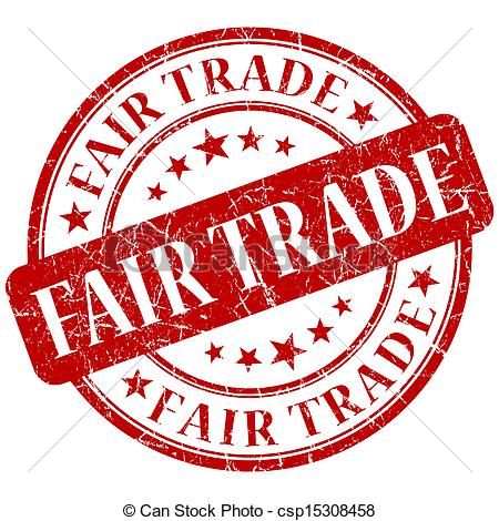 Stock Illustrations of FAIR TRADE red stamp csp15308458.