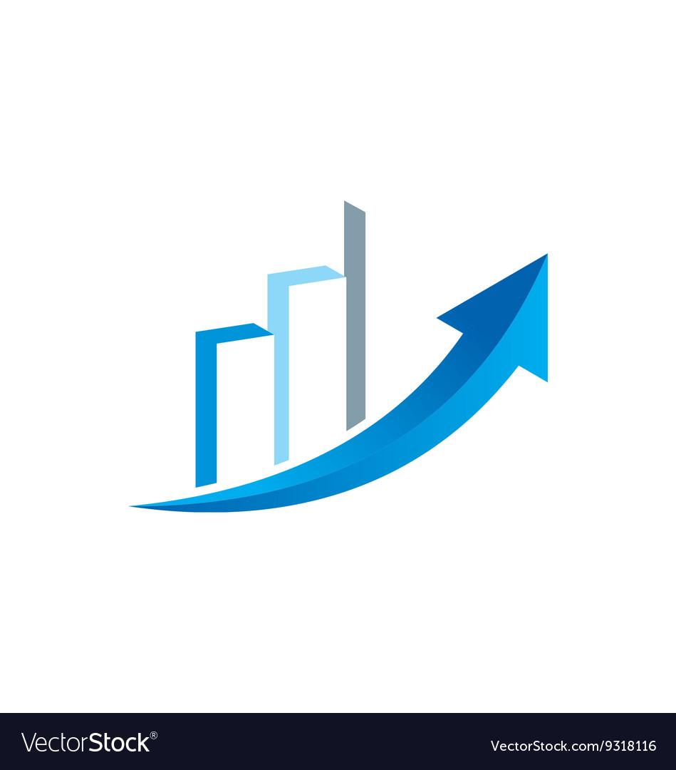 Arrow business finance chart trade logo.