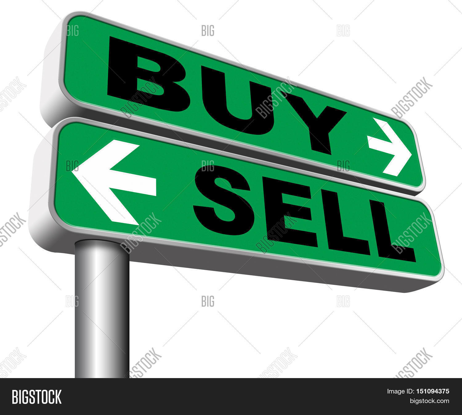 buy or sell market share buying or selling on stock market.