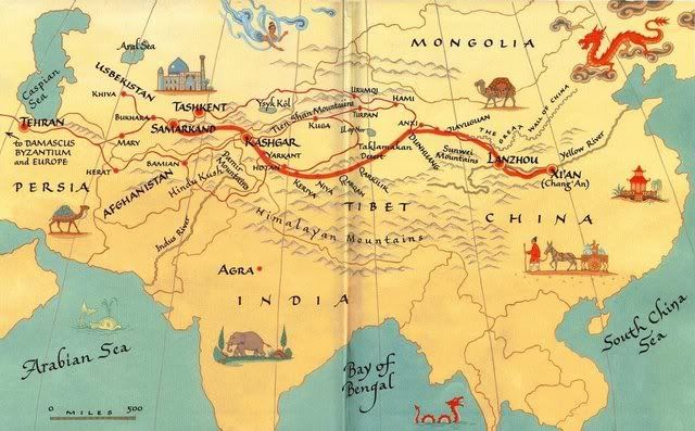 silk roads Silk road (sĭlk) an ancient trade route between china and the mediterranean sea extending some 6,400 km (4,000 mi) and linking china with the roman empire marco polo.