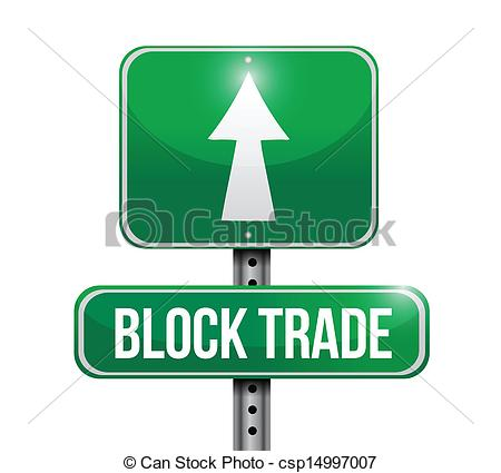 Vector Clipart of block trade road sign illustrations design over.