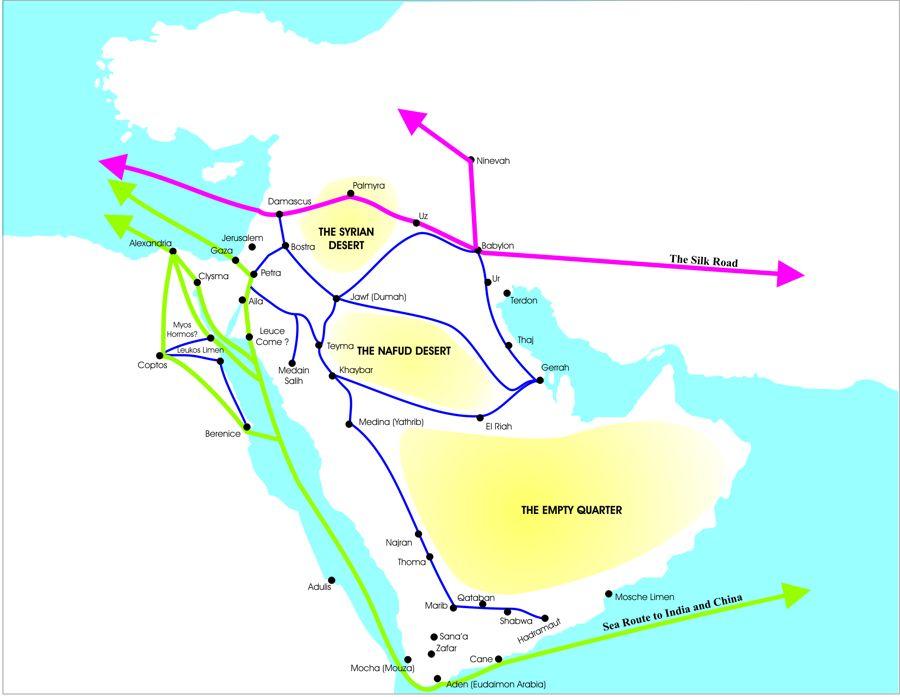 Nabataea: Trade Routes.