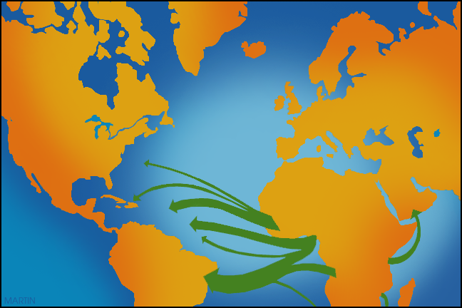 Trade routes clipart.