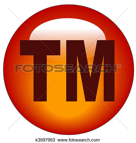 Drawing of red trademark or tm web button k3597953.