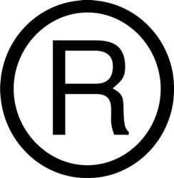 Registered trademark clipart.