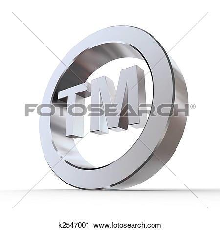 Clipart of Shiny Trademark Symbol k2547001.