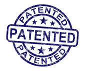 Stock Illustration of Patented Stamp Showing Registered Patent Or.