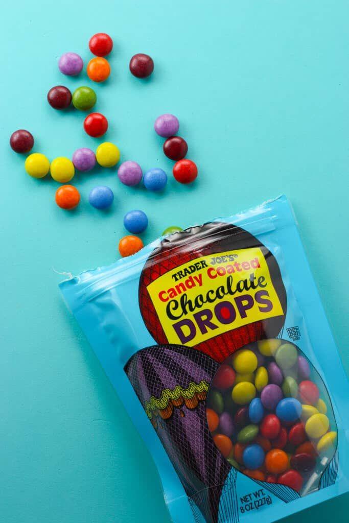 Trader Joe\'s Candy Coated Chocolate Drops.