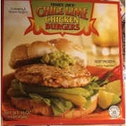 Trader Joe\'s Chile Lime Chicken Burgers.