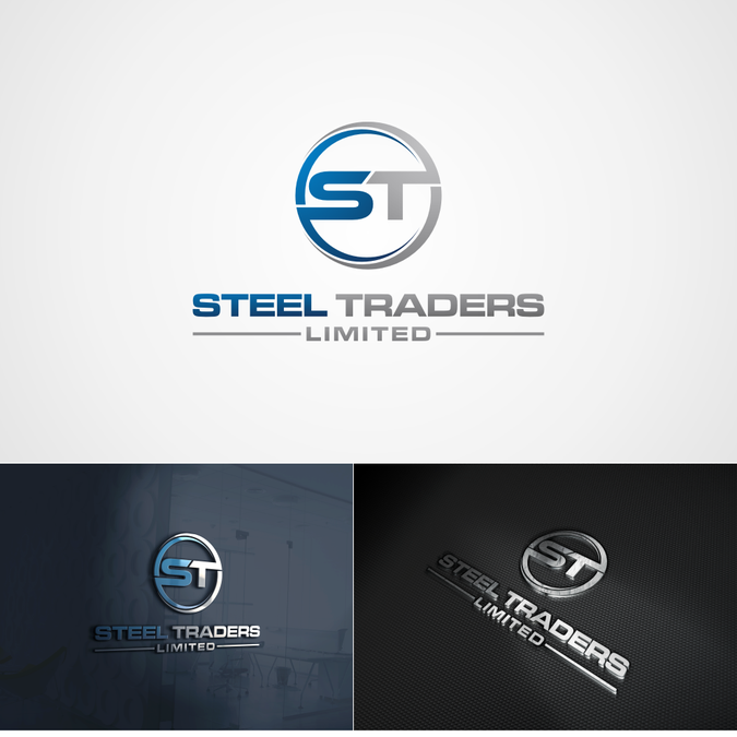 Corporate Logo for A Steel Trading Company.