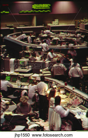 Stock Photography of Trading floor of Pacific Stock Exchange in.
