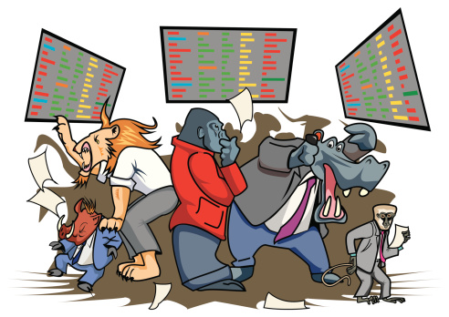 Trading Floor Clip Art, Vector Images & Illustrations.