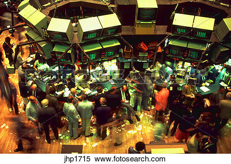 Stock Image of Trading floor of the New York Stock Exchange.