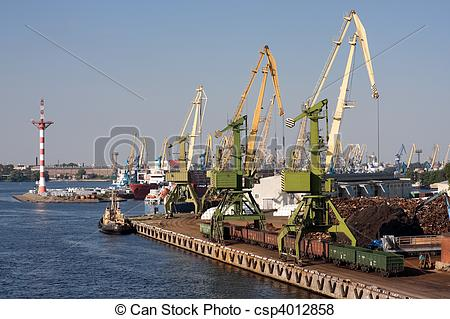 Pictures of Sea trading port.