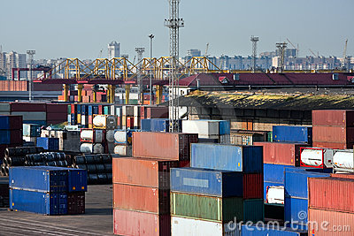 Sea Trading Port Royalty Free Stock Photography.