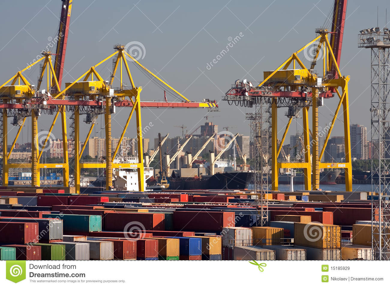 Trading Port Royalty Free Stock Photos.