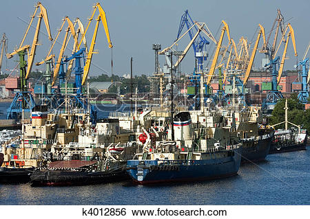 Stock Images of Sea trading port k4012856.