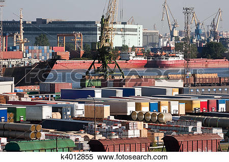 Stock Image of Sea trading port k4012855.