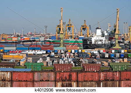 Stock Images of Sea trading port k4012936.