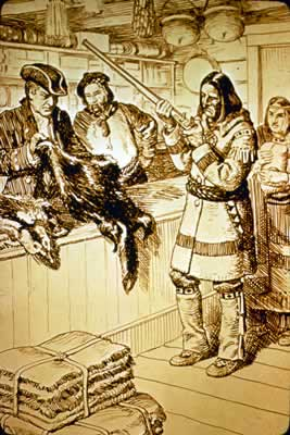 Fur Trading Post Clipart.