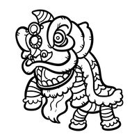 Dragon Dance Clipart Black And White.