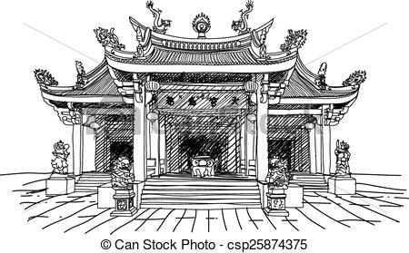 Temple architecture clipart - Clipground