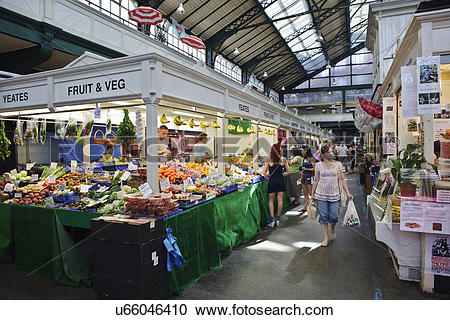 Stock Photography of Wales, Cardiff, Cardiff. People shopping in.