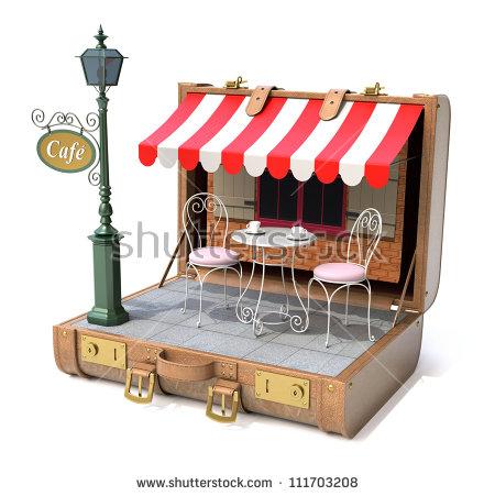 Sidewalk Cafe Stock Images, Royalty.