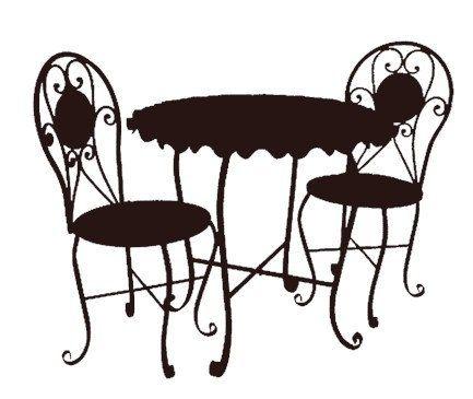 bistro cafe furniture set black clip art graphics image royalty.