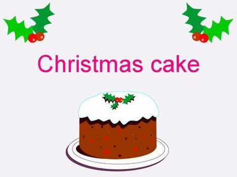 Christmas cake clip art free.