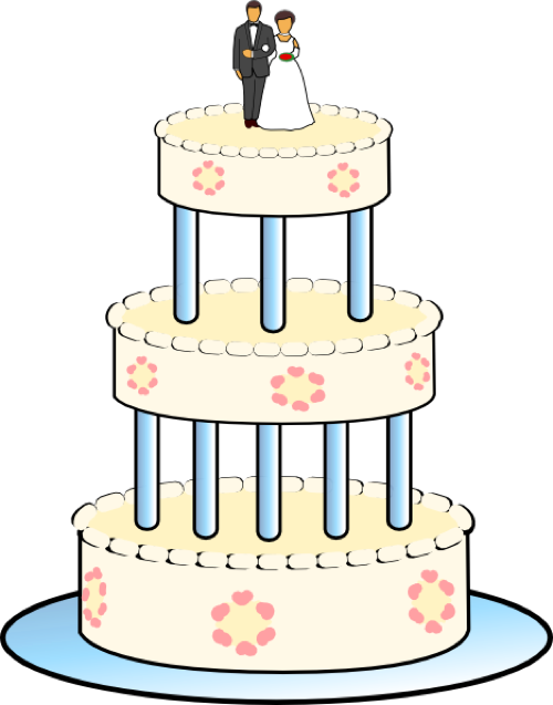 Wedding Cake Clipart.