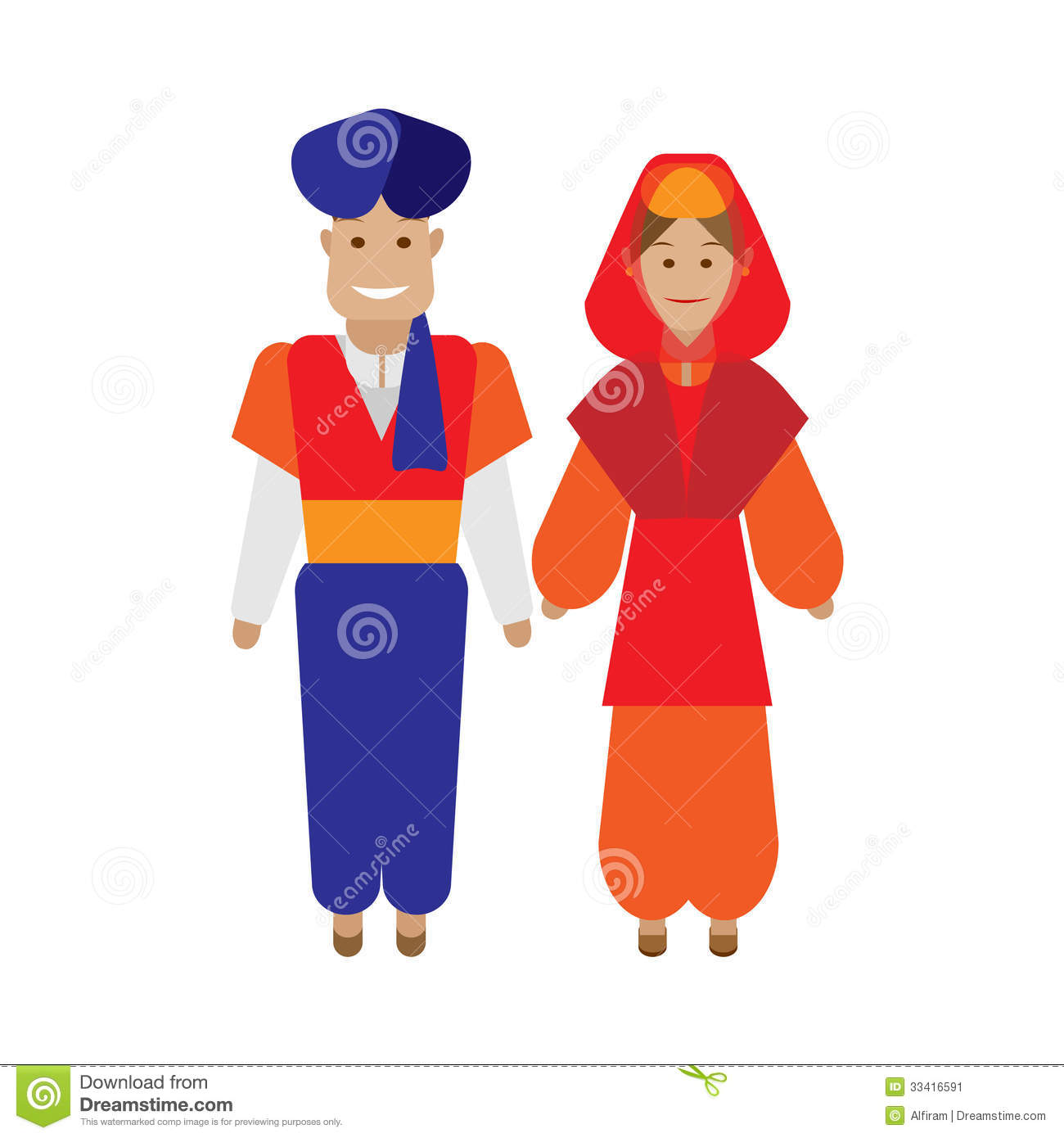 Traditional Turkish Attire Clipart.