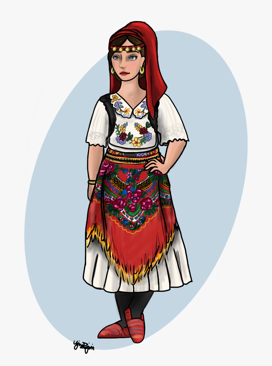 Clip Art Albanian Traditional Clothing.