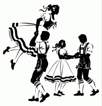 Traditional German Dances 010311» Vector Clip Art.