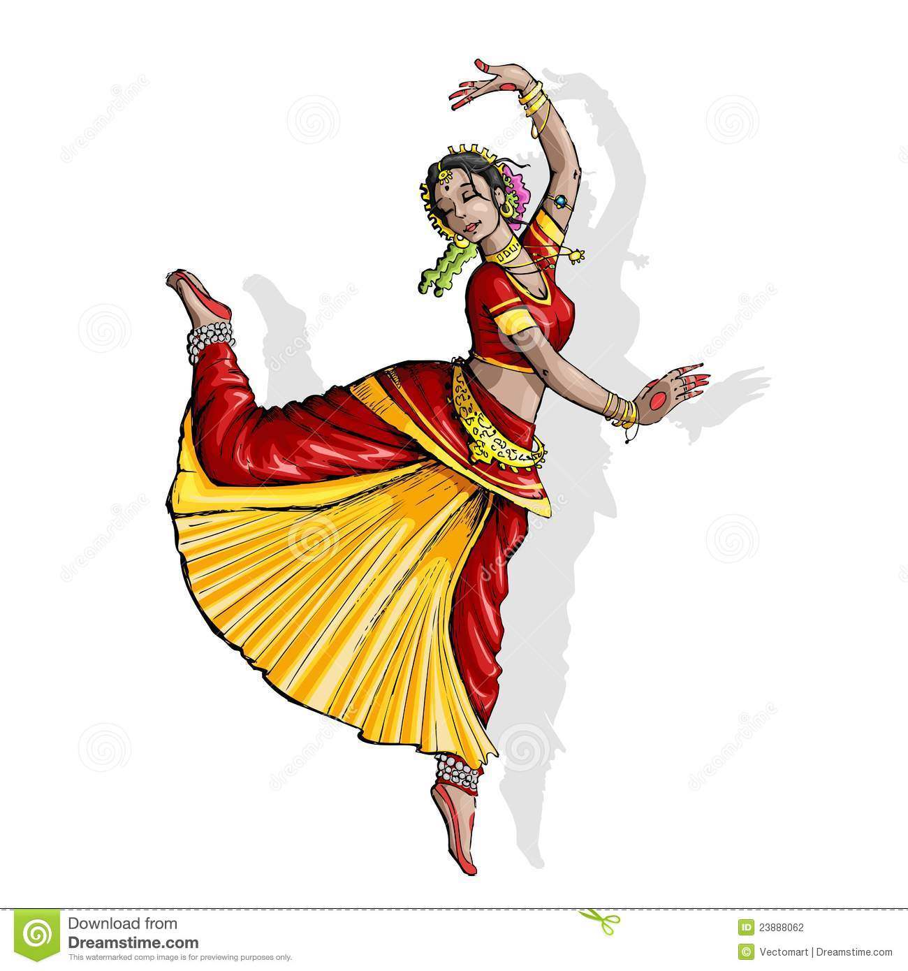 Royalty Free Bollywood Dancing Clip Art, Vector Images ... |Bollywood Dancer Clipart