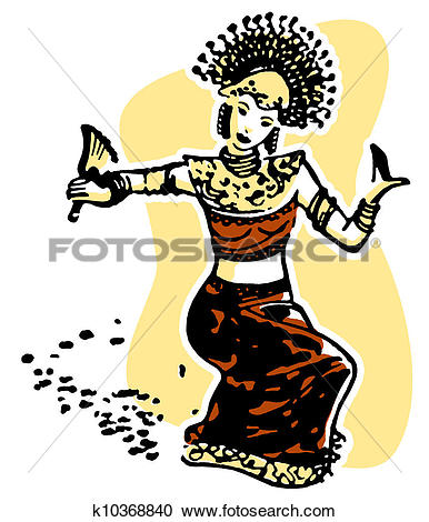 Stock Illustrations of A vintage image of a traditional Malaysian.