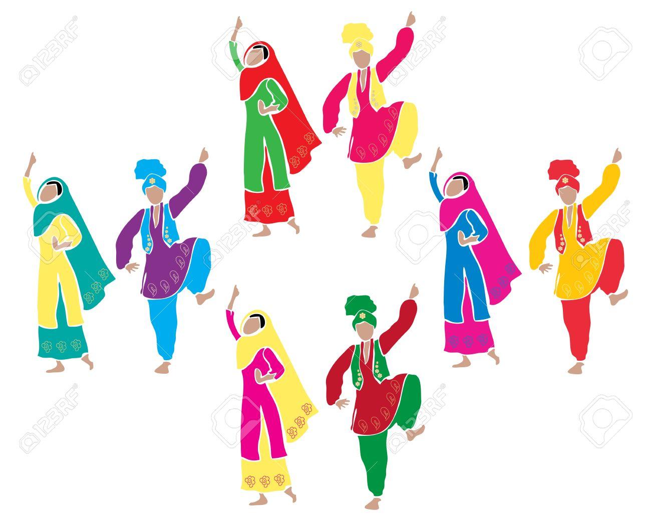 Dress Of Punjab Clipart.