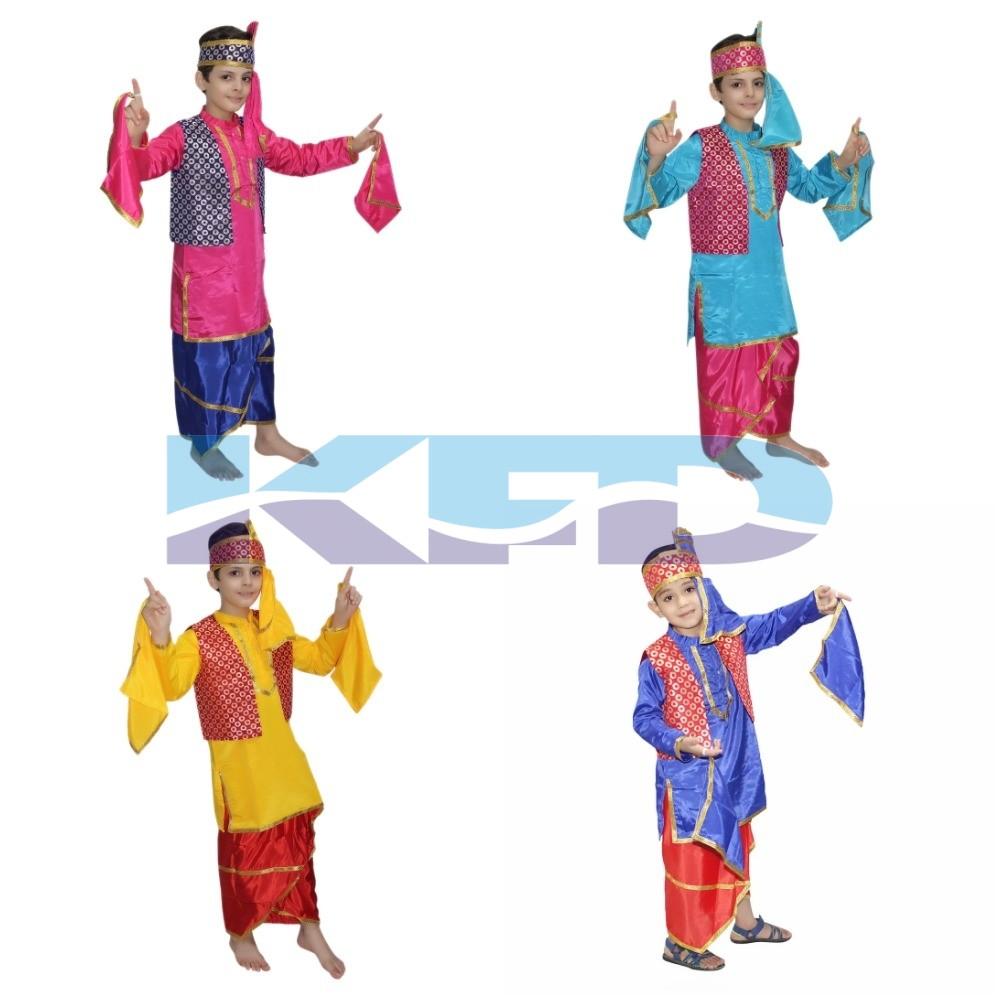 Punjabi Boy fancy dress for kids,Indian State Traditional.