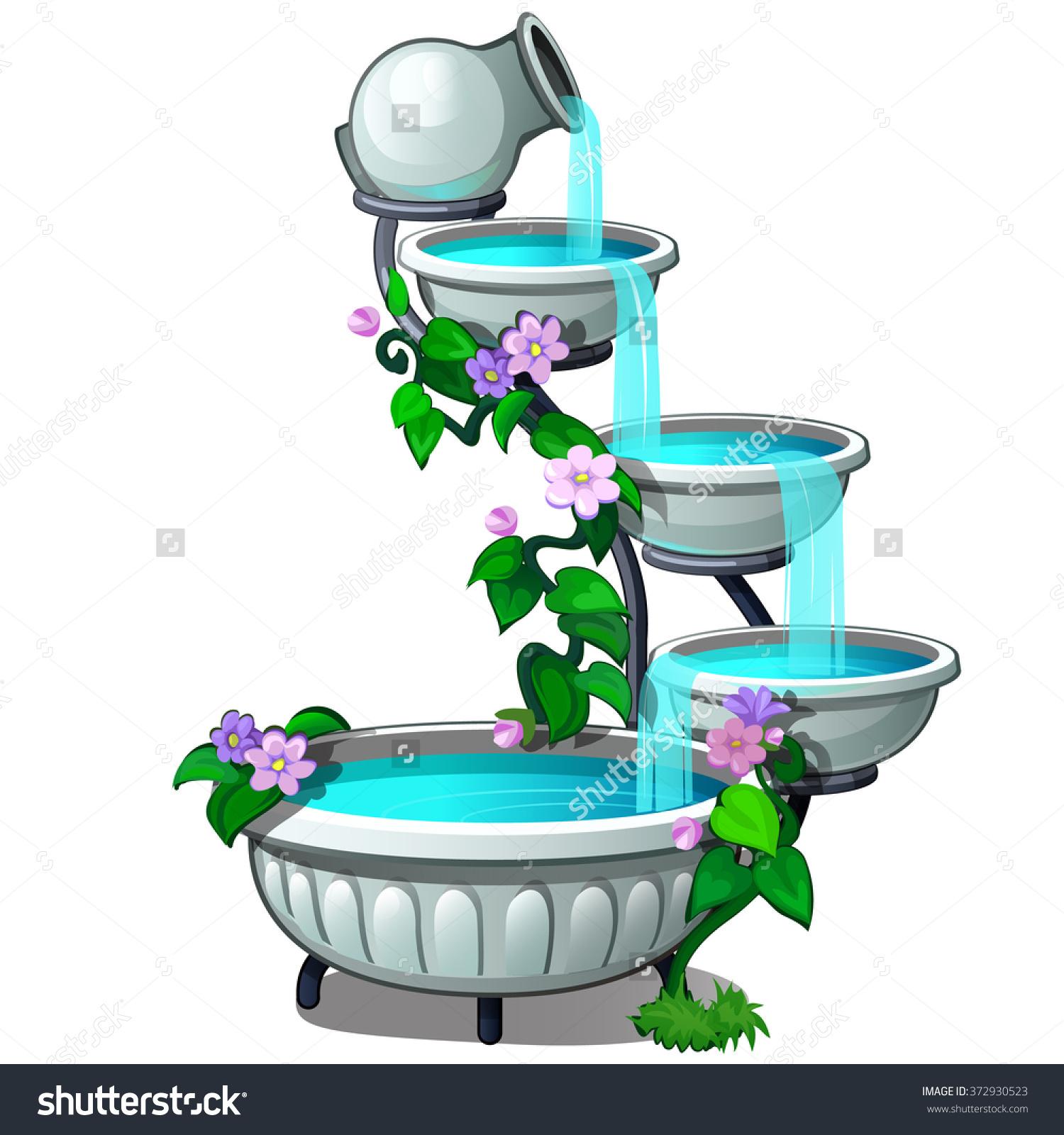 Tiered Fountain Vector Stock Vector 372930523.