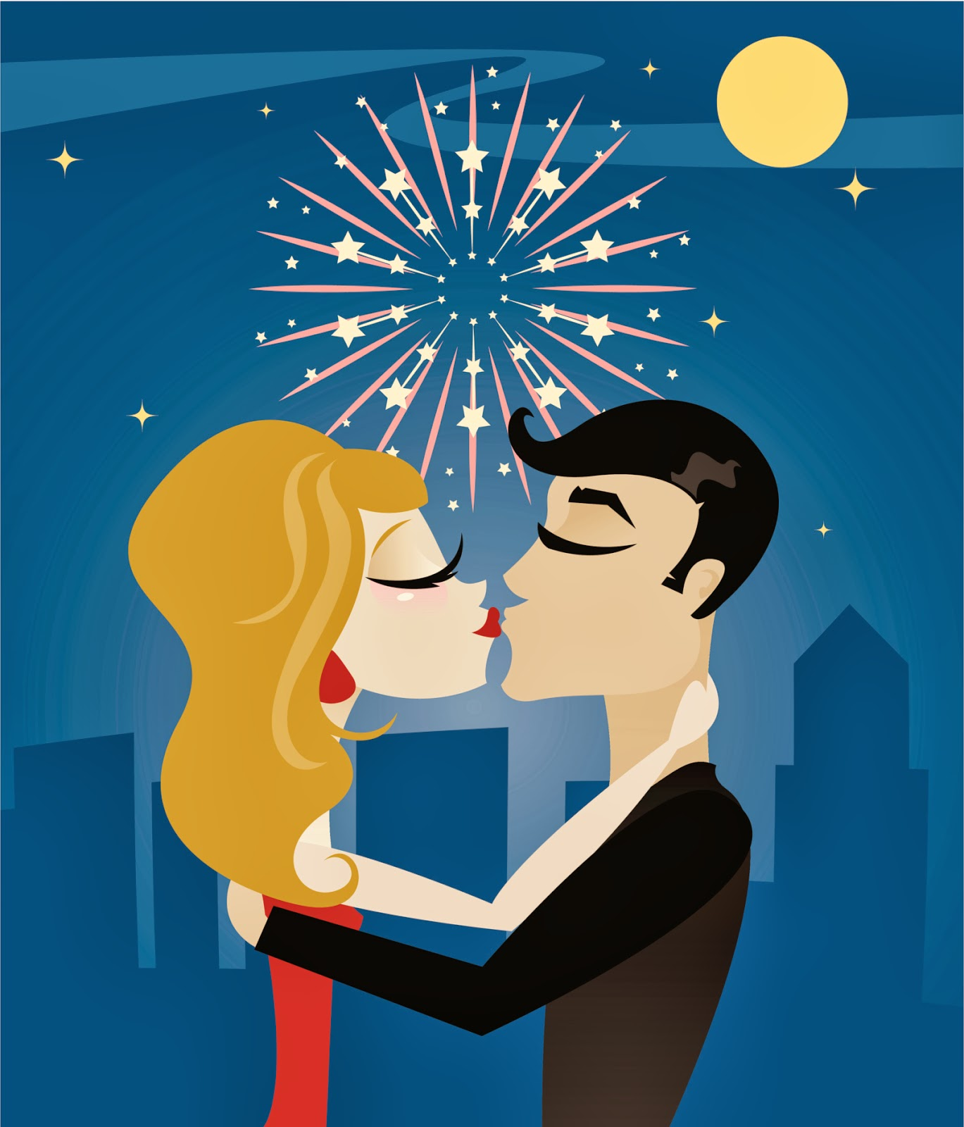 ELIfe: The Traditional New Year's Eve Kiss.