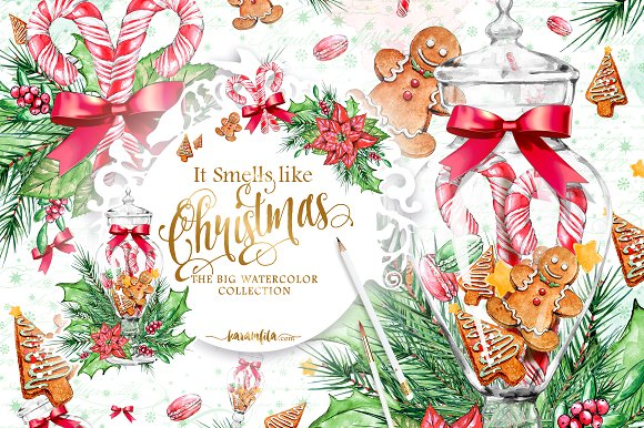 Traditional Christmas Clipart ~ Illustrations on Creative Market.
