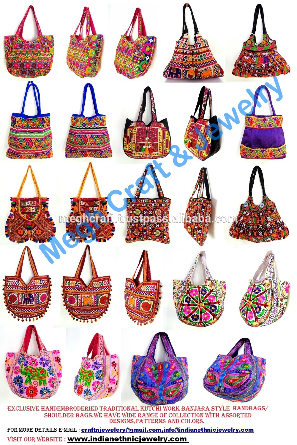 Kutchi Embroidery work banjara bag.