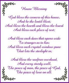 House blessing.